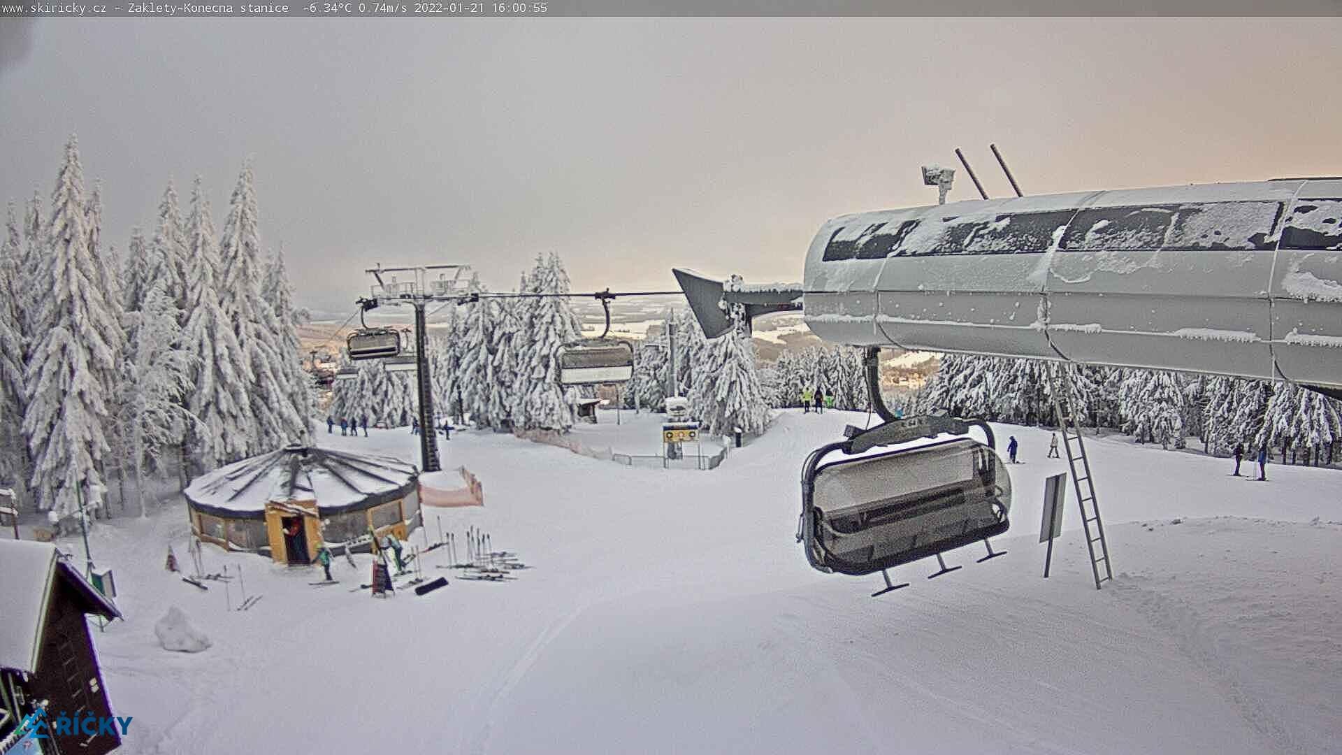 Webcam Skigebiet Ricky v O.h. Ausstieg Sessellift - Adlergebirge