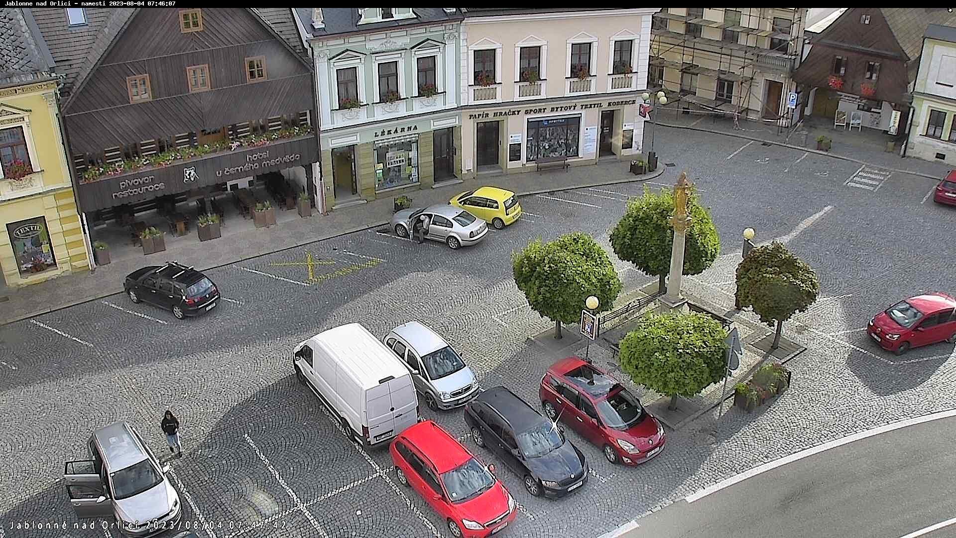 On-line webová kamera Jablonné nad Orlicí náměstí