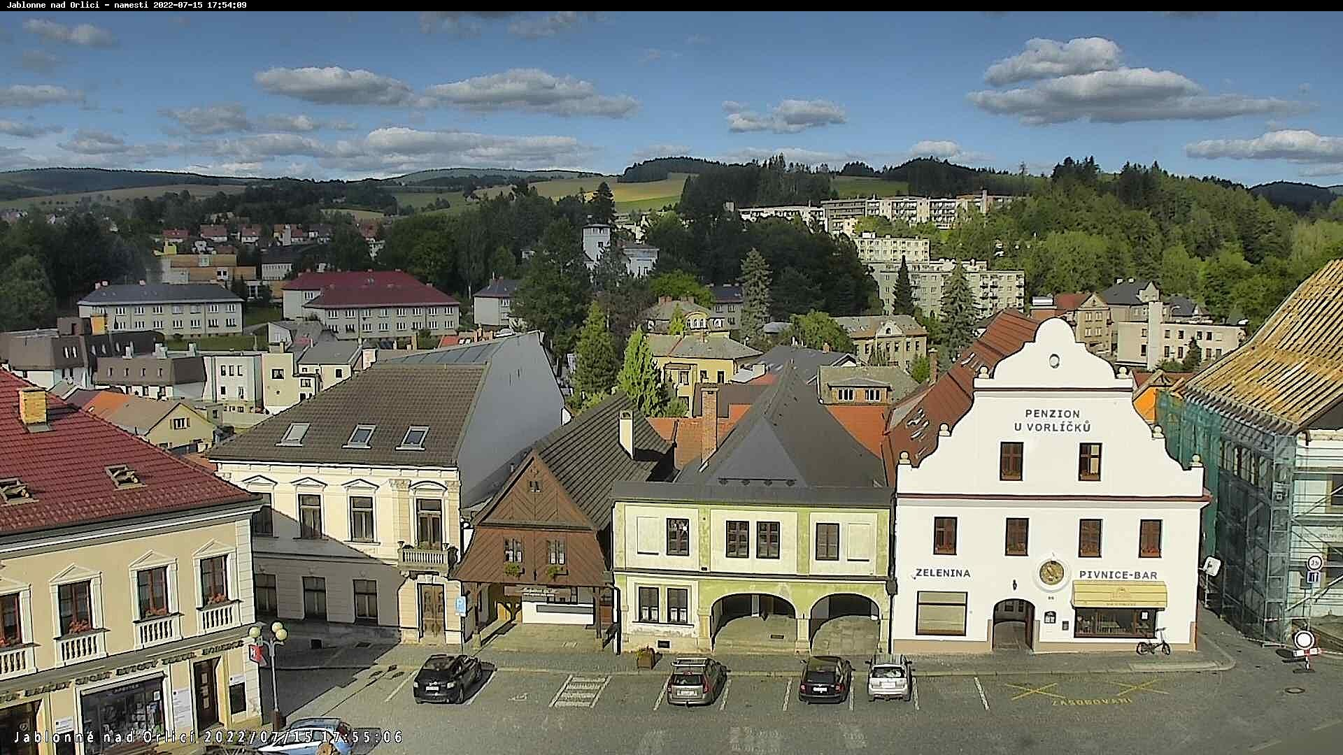 Kamera na żywo - Jablonne nad Orlicą